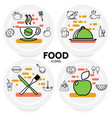 food line icons concept vector image