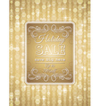 golden christmas background and label with sale of vector image