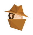 polygonal spy vector image