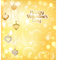 postcard on Valentines day with pendants vector image