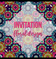 universal invitation floral abstract style card vector image