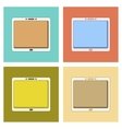 assembly flat icon tablet gadget vector image