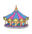 A merry-go-round vector image vector image