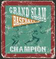 baseball grandslam homerun vector image vector image
