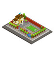 isometric city school building template