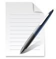 write document vector image