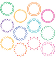 embroidered circle frames vector image