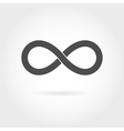 Infinity icon simple mathematical sign isolated vector