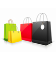 Shopping colorful paper bag vector image vector image