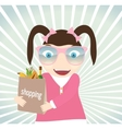 Girl with purchases from the store vector image
