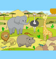 animals of africa savanna for adults vector image