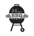barbecue or grill party summer holiday picnic vector image