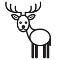 Cute animal deer vector image