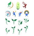 Eco friendly and environment protection symbols vector image