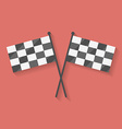 Flat icon of two crossed racing competition or vector image