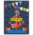 Nautical Adventure Retro poster in flat design vector image