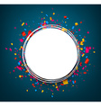 Round festive blue background vector image