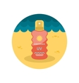Sun Cream in Spray flat icon vector image