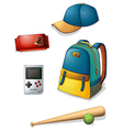 Things used by a typical young boy vector image