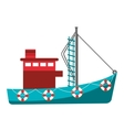 fishing boat industry icon vector image