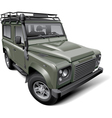 British off road utility vehicle vector image