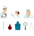 set of medical images vector image