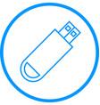 usb drive line icon vector image
