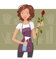 Woman florist vector image