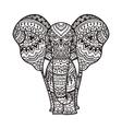 Decorative elephant vector image