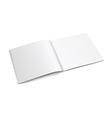 White Empty Brochure vector image vector image