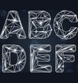 Constellation Geometric Font A-F vector image vector image