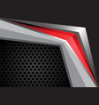 abstract red arrow on gray metal design modern vector image