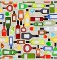 alcohol bottles pattern vector image