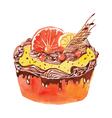 cake with orange vector image