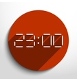 electronic clock web icon vector image