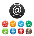 email address icons set vector image