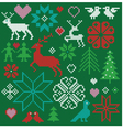 embroidered nordic motifs vector image