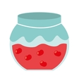 Fruit jam isolated icon design vector image