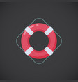 ring buoy flat icon vector image