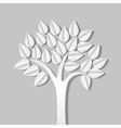 tree made of paper vector image