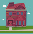 two story house europe style at home in settings vector image