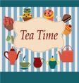 vintage Background of Tea Time - vector image