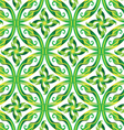 leaves in circle seamless pattern vector image