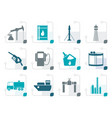 stylized oil and petrol industry icons vector image vector image