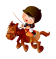 cartoon equestrian boy vector image