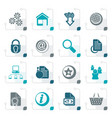 Stylized website and internet icons vector