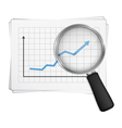 Chart and Magnifying Glass vector image vector image