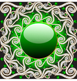 Background with precious stones pattern vector image