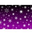 purple snowflakes vector image vector image
