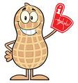 Royalty Free RF Clipart Smiling Peanut Cartoon vector image vector image